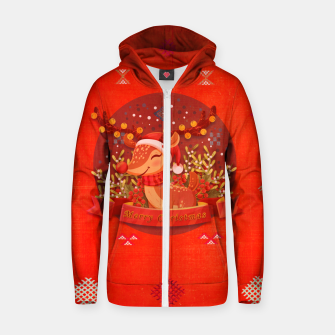 Thumbnail image of Merry Christmas Dear Deer. Zip up hoodie, Live Heroes