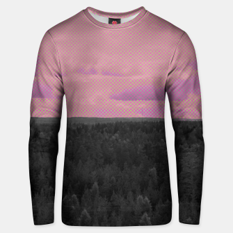 Thumbnail image of Forest and pink sky Unisex sweater, Live Heroes