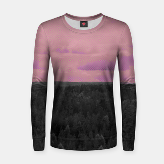 Thumbnail image of Forest and pink sky Women sweater, Live Heroes