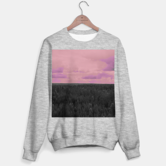 Thumbnail image of Forest and pink sky Sweater regular, Live Heroes