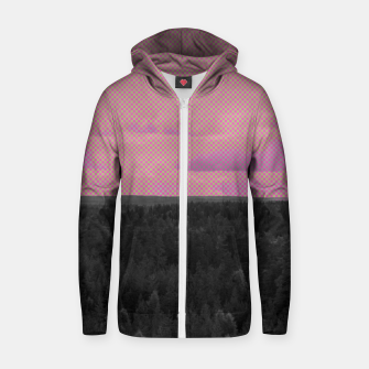 Thumbnail image of Forest and pink sky Zip up hoodie, Live Heroes