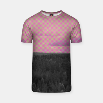 Thumbnail image of Forest and pink sky T-shirt, Live Heroes