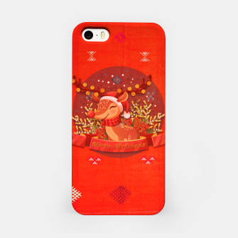 Thumbnail image of Merry Christmas Dear Deer. iPhone Case, Live Heroes