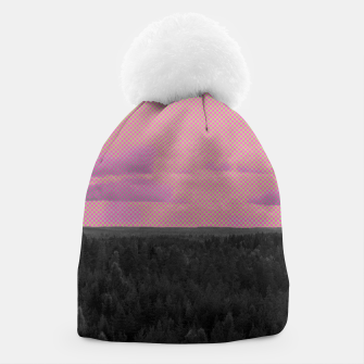 Thumbnail image of Forest and pink sky Beanie, Live Heroes
