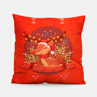 Thumbnail image of Merry Christmas Dear Deer. Pillow, Live Heroes