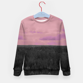 Thumbnail image of Forest and pink sky Kid's sweater, Live Heroes