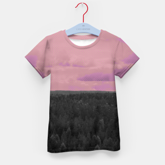 Thumbnail image of Forest and pink sky Kid's t-shirt, Live Heroes