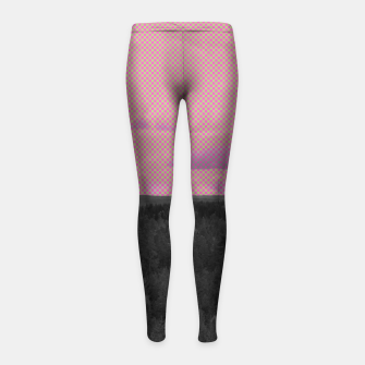 Thumbnail image of Forest and pink sky Girl's leggings, Live Heroes