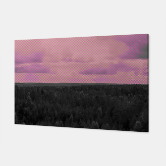 Thumbnail image of Forest and pink sky Canvas, Live Heroes