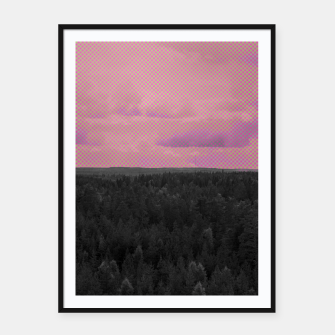 Thumbnail image of Forest and pink sky Framed poster, Live Heroes