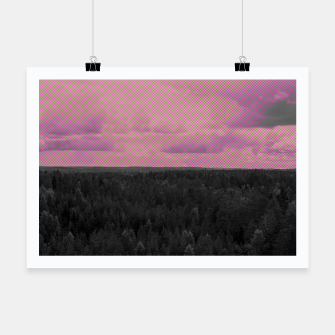 Thumbnail image of Forest and pink sky Poster, Live Heroes