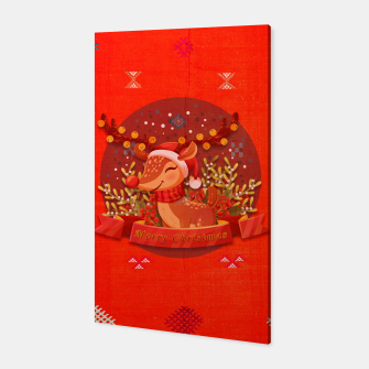 Thumbnail image of Merry Christmas Dear Deer. Canvas, Live Heroes