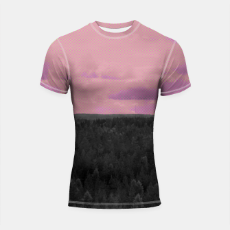Miniatur Forest and pink sky Shortsleeve rashguard, Live Heroes