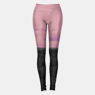Miniatur Forest and pink sky Leggings, Live Heroes