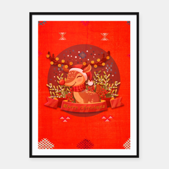 Thumbnail image of Merry Christmas Dear Deer. Framed poster, Live Heroes