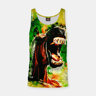 Thumbnail image of horse hilarious big mouth watercolor splatters yellow green Tank Top, Live Heroes