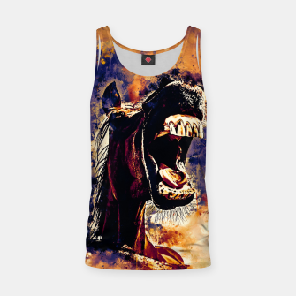 Thumbnail image of horse hilarious big mouth watercolor splatters late sunset Tank Top, Live Heroes