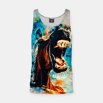 Thumbnail image of horse hilarious big mouth watercolor splatters Tank Top, Live Heroes