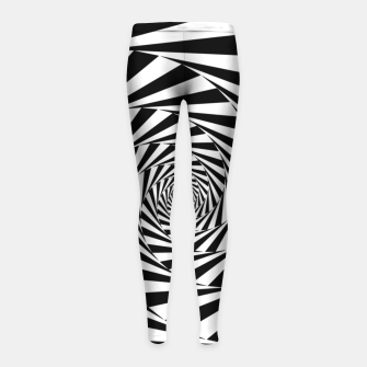 Miniaturka Spiral illusion Girl's leggings, Live Heroes