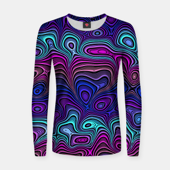 Thumbnail image of Abstract Color Wave Blue Women sweater, Live Heroes