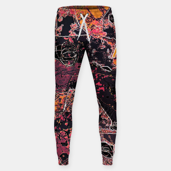 Thumbnail image of Vibrant Grunge Abstract Texture Print Sweatpants, Live Heroes