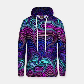 Thumbnail image of Abstract Color Wave Blue Hoodie, Live Heroes