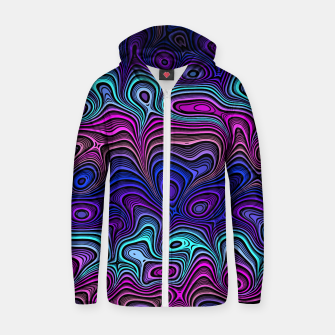 Thumbnail image of Abstract Color Wave Blue Zip up hoodie, Live Heroes