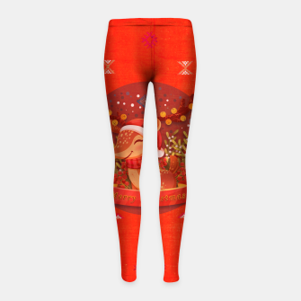 Thumbnail image of Merry Christmas Dear Deer. Girl's leggings, Live Heroes