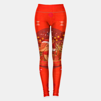 Thumbnail image of Merry Christmas Dear Deer. Leggings, Live Heroes