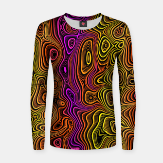 Thumbnail image of Abstract Color Wave Reds Women sweater, Live Heroes