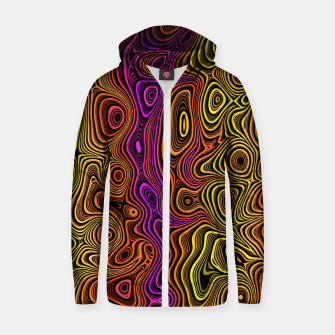 Thumbnail image of Abstract Color Wave Reds Zip up hoodie, Live Heroes