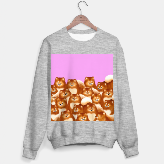 Pomeranians (Lilac Background) Sweater regular thumbnail image