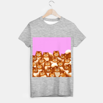 Thumbnail image of Pomeranians (Lilac Background) T-shirt regular, Live Heroes
