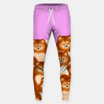 Thumbnail image of Pomeranians (Lilac Background) Sweatpants, Live Heroes