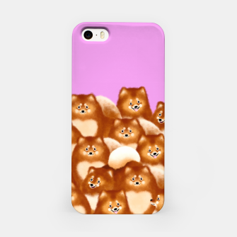 Pomeranians (Lilac Background) iPhone Case thumbnail image