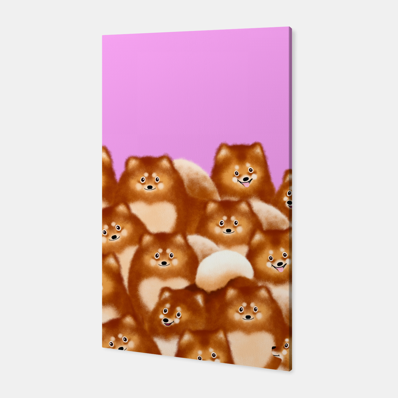 Image of Pomeranians (Lilac Background) Canvas - Live Heroes