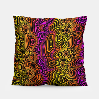 Thumbnail image of Abstract Color Wave Reds Pillow, Live Heroes