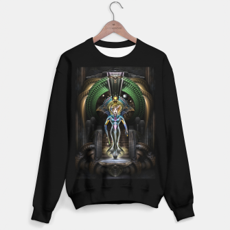 Thumbnail image of The Majesty Of Trilia Fractal Fantasy Portrait Sweater regular, Live Heroes