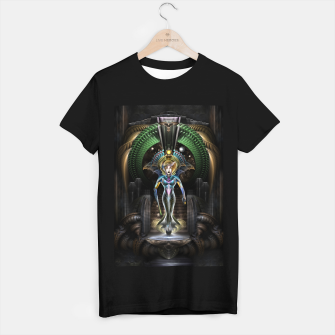 Thumbnail image of The Majesty Of Trilia Fractal Fantasy Portrait T-shirt regular, Live Heroes