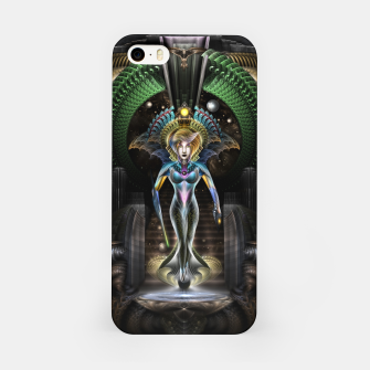 Thumbnail image of The Majesty Of Trilia Fractal Fantasy Portrait iPhone Case, Live Heroes