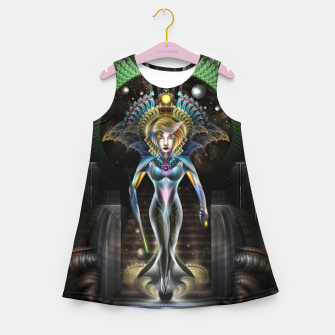 Thumbnail image of The Majesty Of Trilia Fractal Fantasy Portrait Girl's summer dress, Live Heroes