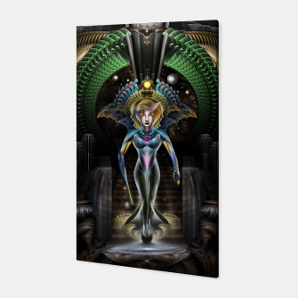 Thumbnail image of The Majesty Of Trilia Fractal Fantasy Portrait Canvas, Live Heroes