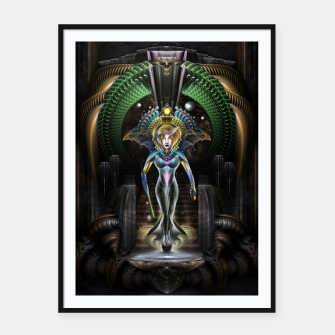 Thumbnail image of The Majesty Of Trilia Fractal Fantasy Portrait Framed poster, Live Heroes