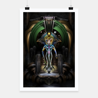 Thumbnail image of The Majesty Of Trilia Fractal Fantasy Portrait Poster, Live Heroes