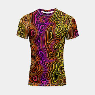 Thumbnail image of Abstract Color Wave Reds Shortsleeve rashguard, Live Heroes