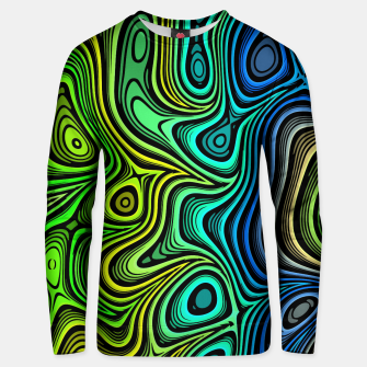 Thumbnail image of Abstract Color Wave Greens Unisex sweater, Live Heroes
