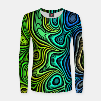 Thumbnail image of Abstract Color Wave Greens Women sweater, Live Heroes