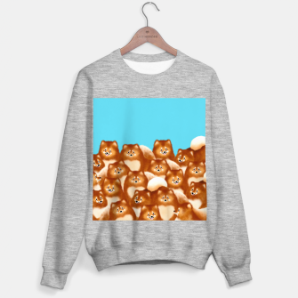 Pomeranians (Blue Background) Sweater regular thumbnail image