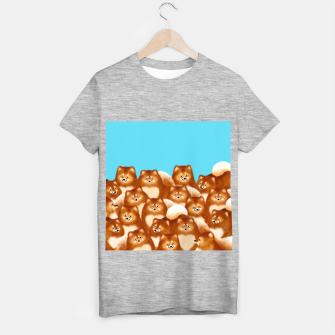 Pomeranians (Blue Background) T-shirt regular thumbnail image