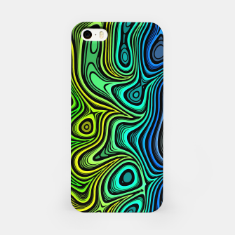 Thumbnail image of Abstract Color Wave Greens iPhone Case, Live Heroes